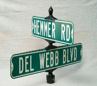 457F Universal Cross Bracket for 45° or 180° Flat Street Name Signs