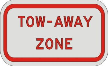 TOW-AWAY ZONE SIGN R7-201