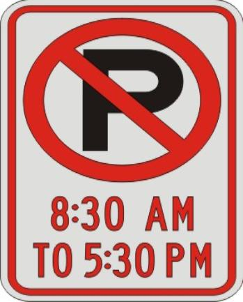 No Parking Symbol with times sign R7-2a
