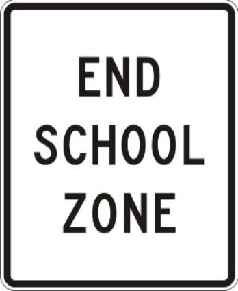 S5-2 End School Zone Sign
