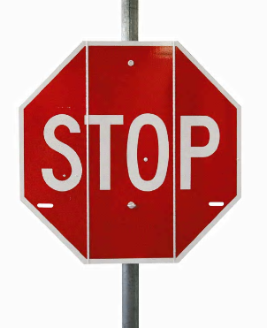 Tri-Fold Stop Sign Open